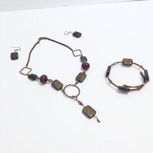Jewelry - Vintage handmade Sterling silver jewelry set
